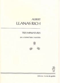 Three miniatures for bass clarinet and marimba