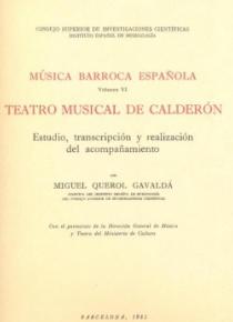 Música barroca española volumen VI: teatro musical de Calderón