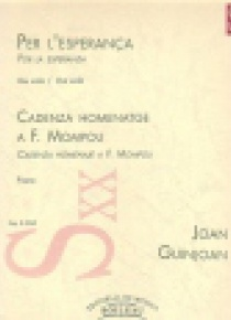 Por la Esperanza / Cadenza Homenaje a F. Mompou