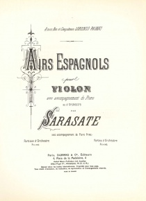 Spanish Ayrs for violoin and orchestra (piano reduction)