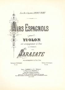 Aires espanyols per violí i orquestra (reducció)