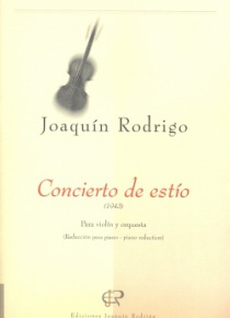 Concierto de estío (reducció per a violí i piano)