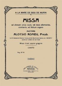 Missa a la Mare de Déu de Núria (voz), by Lluís Romeu