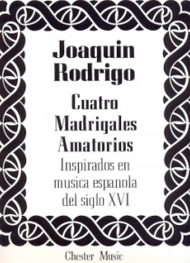 Cuatro madrigales amatorios (medium voice)