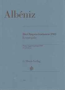 Three Improvisations 1903 (incl. CD)