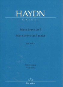 Missa Brevis nº 1 Fa M - Piano reduction
