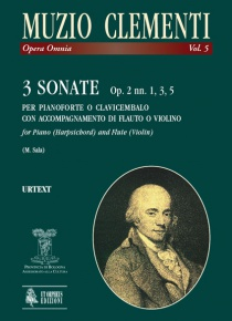 3 Sonatas Op. 2 Nos. 1, 3, 5 for Piano (Harpsichord) and Flute (Violin), de Muzio Clementi