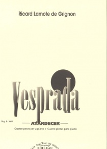 Vesprada (Four pieces for piano)