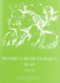 Musicological Research XII-XIII