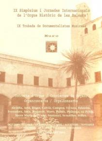IX Simposium i Jornades Internacionals de l'Orgue Historic de les Balears
