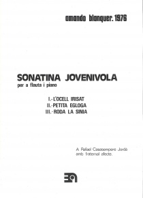 Sonatina <i>Jovenivola</i> for flute and piano