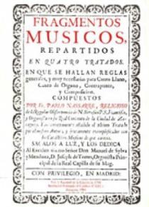 Fragmentos músicos (1683, 1700), I: facsimile