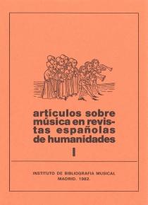 Artículos de música en revistas españolas de Humanidades