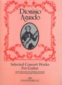 Selected concert works for guitar