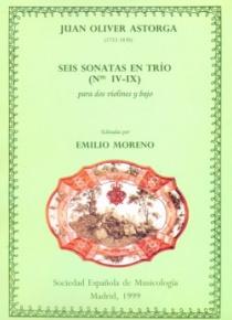 Seis sonatas en trío (Nº IV-IX), para dos violines y bajo