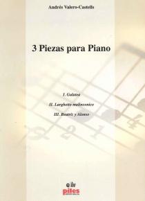 3 piezas para piano