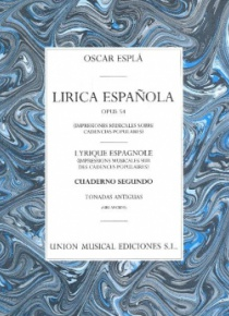 Lírica española, op.54 (Quadern II: tonades antigues)