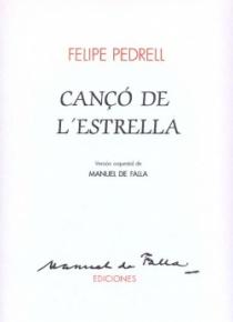 PEDRELL - FALLA: Cançó de l'Estrella