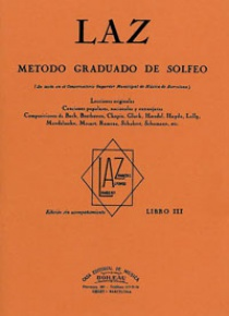LAZ, Método de Solfeo Vol.3º, by Lambert/Alfonso/Zamacois