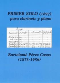 Primer solo para clarinete y piano (1897)