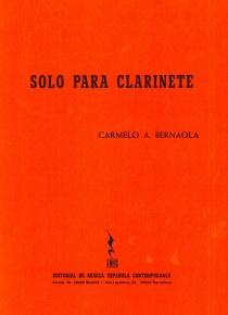 Solo para clarinete