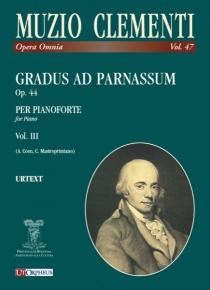Gradus ad Parnassum Op. 44, de Muzio Clementi vol. III