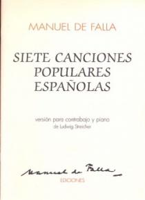 Siete canciones populares españolas (contrabajo y piano)