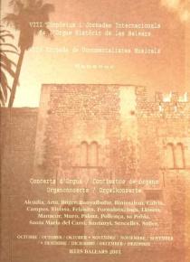 VIII Simposium i Jorandes Internacionals de l'Orgue Historic de les Balears