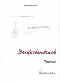 Dreifarbendruck, para flauta, viola y guitarra