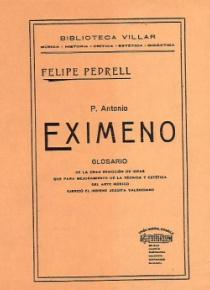 P. Antonio Eximeno. Glosario