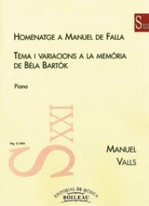 Homenaje a Falla / Tem. y Var. a la memoria de Béla Bartok, by Manuel Valls