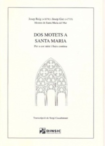 Two motets to the Virgin Mary