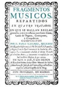 Fragmentos músicos (1683, 1700), II: modern practical edition