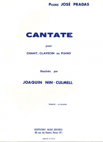 Cantata for voice and harpsichord or piano