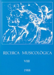 Recerca Musicològica VIII