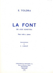 La font, per a viola i piano