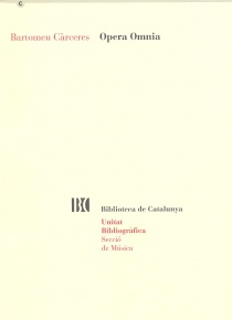 Bartomeu Càrceres - Opera Omnia
