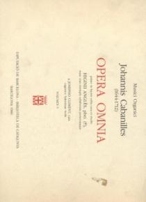 Opera Omnia vol. V