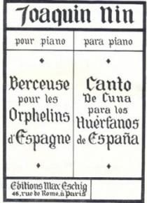 Berceuse pour les orphelins d'Espagne