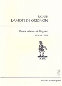 Quatre estances de Kayyam (voz y piano)