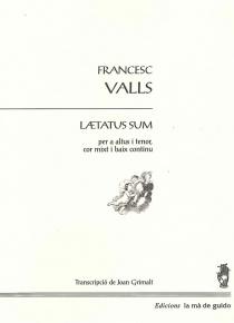Laetatus sum per a altus, tenor, cor mixt i baix continu