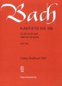 Cantata BWV 108 Es ist euch gut, dass ich hingehe (reduction)