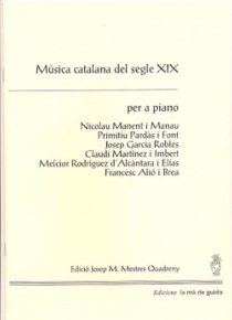 Catalan music from XIXth century for piano