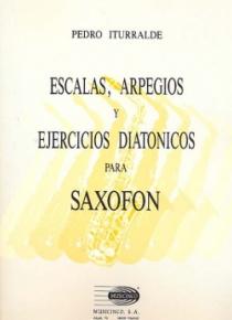 Escalas, arpegios y ejercicios diatónicos para saxofón