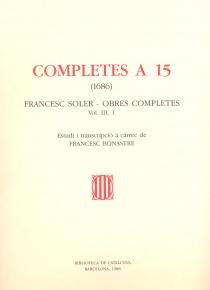 Completes a 15 - vol. III 1