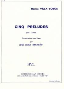 Preludio núm. 4 para guitarra (trascripción para piano)