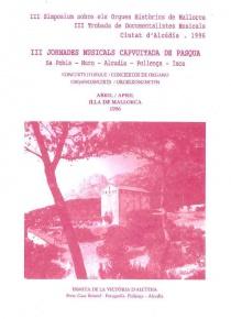III Simposium sobre els Orgues Historics de Mallorca.