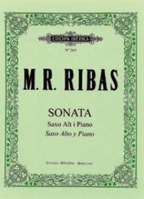Sonata saxo alto Mi bemol y piano, de M. Rosa Ribas