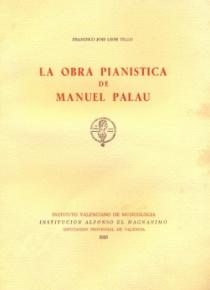 La obra pianística de Manuel Palau