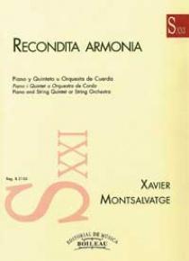 Recóndita Armonía, de Xavier Montsalvatge